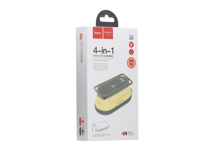 Внешний аккумулятор Power Bank 4в1 Hoco S9 5000mAh с беспроводной зарядкой и ночником (Черный)