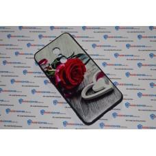 Чехол-бампер для XiaoMi Redmi 5Plus (Красная роза)