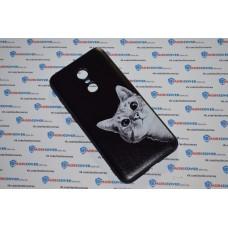 Чехол-бампер для XiaoMi Redmi 5Plus (Подглядывающий кот)