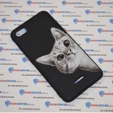 Чехол-бампер для XiaoMi Redmi 6A (Подглядывающий кот)