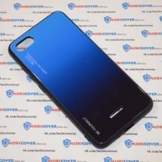 Стеклянный чехол для XiaoMi Redmi 6A (Синий)