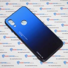 Стеклянный чехол для XiaoMi Redmi 7 (Синий)