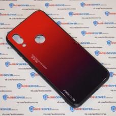 Стеклянный чехол для XiaoMi Redmi 7 (Красный)