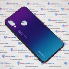 Стеклянный чехол для XiaoMi Redmi 7 (Фиолетовый)