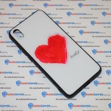 Стеклянный чехол для XiaoMi Redmi 7A (Lovely)