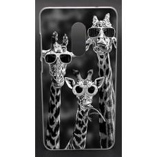 Чехол-бампер для XiaoMi Redmi Note 4 (Жирафы)
