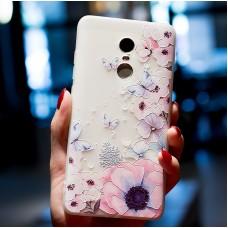 Чехол-бампер для XiaoMi Redmi Note 4X (Бабочки)