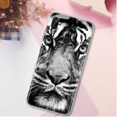 Чехол для XiaoMi Redmi Note 7 (Белый тигр)