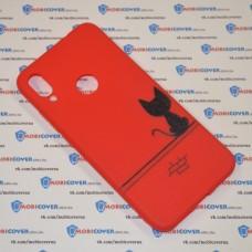 Чехол для XiaoMi Redmi Note 7 (Черный кот)