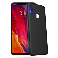 Чехол для XiaoMi Redmi Note 7 (Черный силикон)