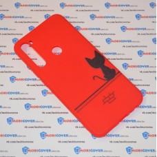 Чехол для XiaoMi Redmi Note 8 (Черный кот)