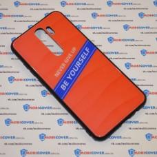 Стеклянный чехол для XiaoMi Redmi Note 8 Pro Be yourself (Оранжевый)