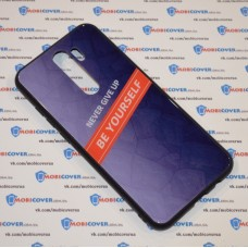Стеклянный чехол для XiaoMi Redmi Note 8 Pro Be yourself (Фиолетовый)