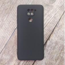 Чехол для XiaoMi Redmi Note 9 (Черный силикон)