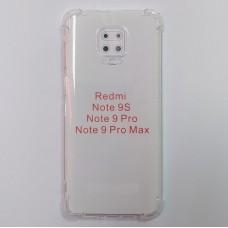 Прозрачный противоударный чехол c усиленными углами для XiaoMi Redmi Note 9 Pro / Note 9s