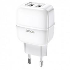 Сетевое зарядное устройство Hoco C77A, 2USB, 2.4A (Белый)