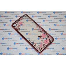 Чехол-бампер для Meizu U10 (Цветочные узоры)