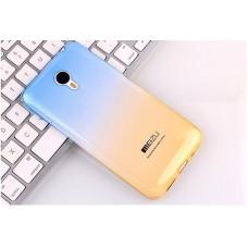 Чехол-бампер для Meizu U10 (Желто-голубой)