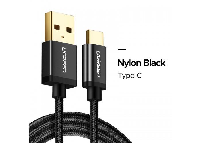 Ugreen кабель USB - Type-C, 3.0A, 0.5м (черный)