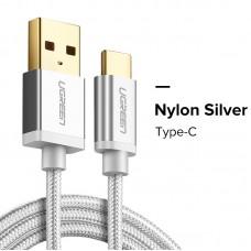 Ugreen кабель USB - Type-C, 3.0A, 0.5м (Серебристый)