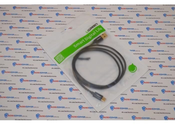 Ugreen кабель USB - Type-C, 3.0A, 1м (черный)
