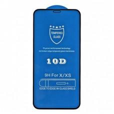 Защитное стекло 10D для iPhone X / Xs / 11 Pro Black