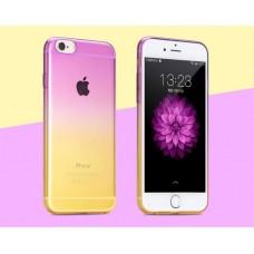Чехол-бампер для iPhone 5/5S (Пурпурно-желтый)