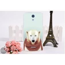 Чехол-бампер для Lenovo A2010 (Белый медведь)