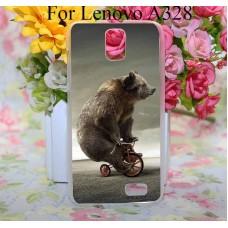 Чехол-бампер для Lenovo A328 (Медведь)