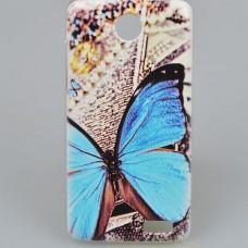 Чехол-бампер для Lenovo A516 (Бабочка)