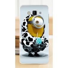 Чехол-бампер для Samsung Galaxy А7 (Миньон-коровка) (2015)