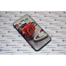Чехол-бампер для Samsung Galaxy J3 / J320 (Красная роза) (2016)