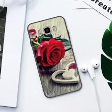 Чехол-бампер для Samsung Galaxy J5 / J510 (Красная роза) (2016)