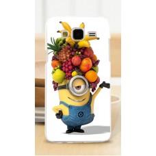 Чехол-бампер для Samsung Galaxy J7 (Миньон-фрукты) (2015)