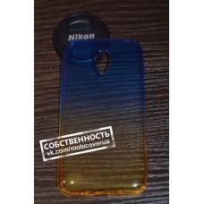 Чехол-бампер для Meizu M2/M2 mini (Желто-голубой)