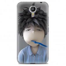 Чехол-бампер для Meizu M2 Note (Сонный мальчик)