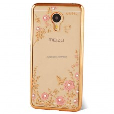 Чехол-бампер для Meizu M3/M3s/M3 mini (Цветочные узоры)