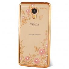 Чехол-бампер для Meizu M3 Note (Цветочные узоры)