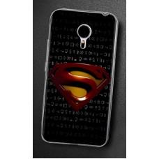Чехол-бампер для Meizu M3 Note (Супермен)
