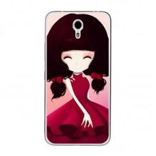 Чехол-бампер для Meizu M5 (Девочка)