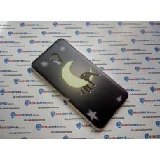 Чехол-бампер для Meizu M5 (Кот на луне) (Уценка)