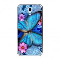 Чехол-бампер для Meizu M5 (Яркая бабочка)