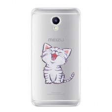 Чехол-бампер для Meizu M6 Note (Котенок)