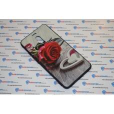 Чехол-бампер для Meizu M6 Note (Красная роза)