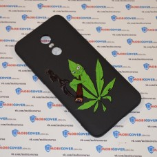 Чехол-бампер для XiaoMi Redmi 5Plus (Smoke Marijuana)