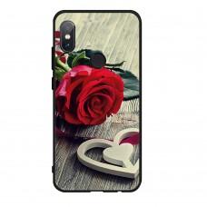 Чехол-бампер для XiaoMi Redmi Note 5 (Красная роза)