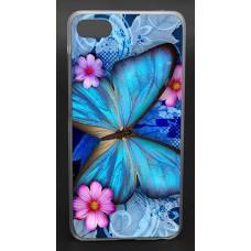 Чехол-бампер для Meizu U10 (Яркая бабочка)