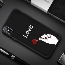 Чехол-бампер для iPhone X (Love)